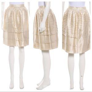CHRIS BENZ Satin Knee-Length Skirt